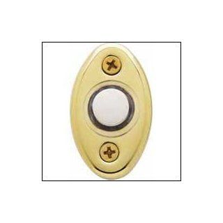 Baldwin Electrical Bell Buttons 4852 Solid Brass Illuminated Doorbell Button 2 inch x 1.125 inch (51 mm x 29 mm)   Doorbell Push Buttons