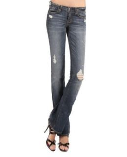 Abercrombie & Fitch Bootcut Distressed Denim Jeans Clothing
