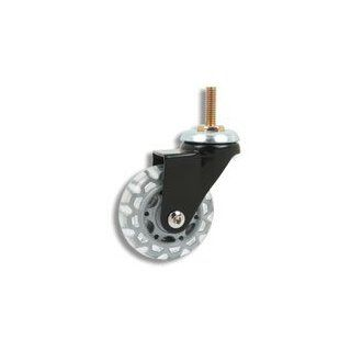 Cool Casters   Translucent Skate Wheel Caster, Clear / Grey Wheel, Black Yoke, Threaded Stem No Brake   Item #100 64 CLGY BL TS NB: Plate Casters: Industrial & Scientific