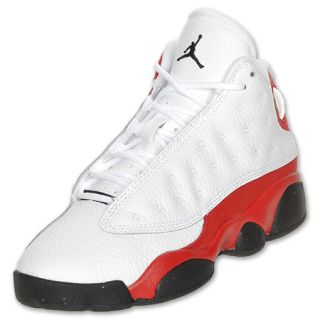 Boys' Preschool Air Jordan Retro 13 Basketball Shoes  White/Black/Red