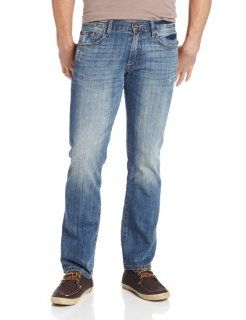 Lucky Brand Mens 221 Slim Straight in Ol Bushido, Ol Bushido, 30x32: Clothing