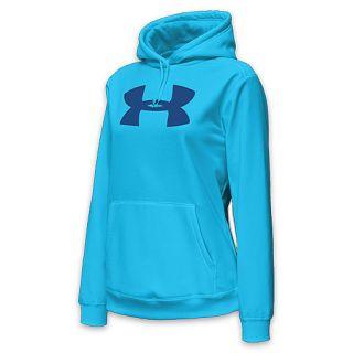 competitive price 96031 61605 ... Under Armour Womens Big Logo Fleece Hoodie Cyan ...
