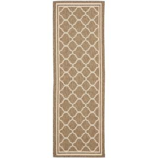 Safavieh Indoor/ Outdoor Courtyard Brown/ Bone Rug (2'3 x 8') Safavieh Runner Rugs