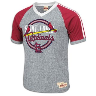 Mitchell & Ness MLB Bandbox V Neck T Shirt   Mens   Baseball   Clothing   Philadelphia Phillies   Grey