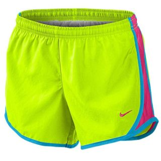 Nike Tempo Shorts   Girls Grade School   Running   Clothing   Volt/Vivid Blue/Vivid Pink/Vivid Pink