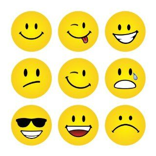 234 Expression Faces Yellow Praise Stickers Teacher Parents Children: Toys & Games