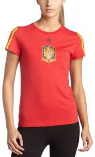Spain Women's T Shirt (Red, XSmall) Clothing