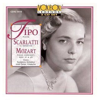 Maria Tipo Plays Scarlatti (12 Sonatas) and Mozart (Piano Concerti Nos. 21 & 25): Music