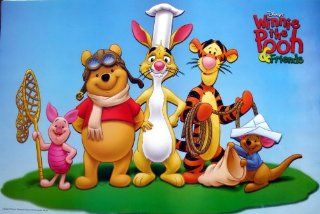 "WM 238 Winnie the Pooh and Friends Disney Cartoon Animation Wall Decoration Movie Poster Size 35""x23.5""   Prints"