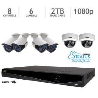 Lorex LNR241C4B Full HD 1080p 4 Channel Security System with 4 IP Bullet Cameras and 1TB HDD (White) : Complete Surveillance Systems : Camera & Photo