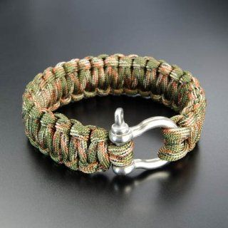 Colt Knives 3026 Woodland Camo Tactical Survival S.P.E.A.R. (Self Preservation Evasion and Reliance) Bracelet with Metal Buckle: Sports & Outdoors