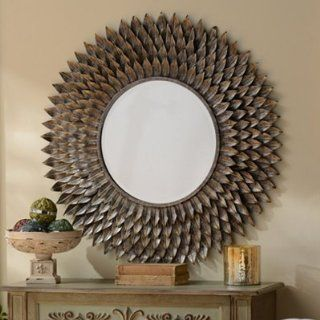 Chloe Floral Mirror, 36 in.   Wall Mounted Mirrors