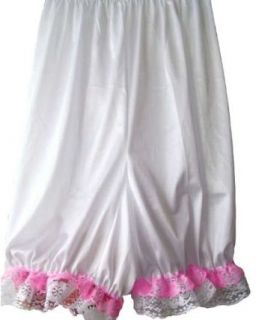 White Pettipants Shorts Bloomers Additional Size Nylon Half Slips Lingerie Women: Clothing