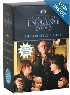 The Trouble Begins, Movie Tie in Edition: A Box of Unfortunate Events, Books 1 3 (The Bad Beginning; The Reptile Room; The Wide Window): Lemony Snicket: 0046594035998: Books