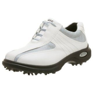 ECCO Women's Casual Swing Golf Shoe,White/Delphin,39 EU: Sports & Outdoors