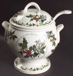 Portmeirion Holly And The Ivy, The Tureen & Lid w/Ladle, Fine China Dinnerware: Kitchen & Dining