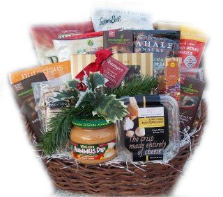 Holiday Office Suite Healthy Christmas Gift Basket : Gourmet Snacks And Hors Doeuvres Gifts : Grocery & Gourmet Food