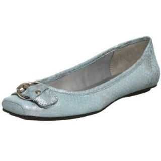 AK Anne Klein Women's Impress Flat,Blue,6.5 M US: Shoes