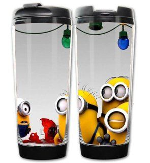 Despicable Me 2 Minion Two Layer Heat resistant Coffee Mug 7.3*5.8*19.2cm: Kitchen & Dining