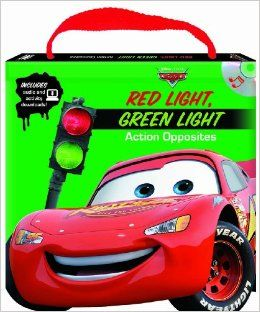 Disney/Pixar Cars Red Light Green Light Action Opposites (Read, Play & Go book with audio CD, easy to  audiobook and printable activities) Studio Mouse 9781590698617 Books