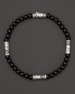 John Hardy Men's Batu Palu Sterling Silver Multi Station Bracelet with Black Onyx's