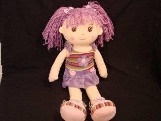 "Lollipop Kidz 20""Soft Bodied Rag Doll Flower Purple"