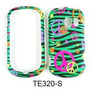 CELL PHONE CASE COVER FOR LG EXTRAVERT VN271 TRANS PEACE SIGNS ON GREEN ZEBRA: Everything Else