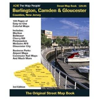 ADC The Map People Burlington, Camden & Gloucester Counties, New Jersey: Street Map Book: Adc The Map People: 9780875307220: Books