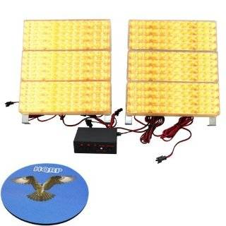 HQRP 288 Amber 3x Mode Deck Dash Grille Emergency Hazard Warning Truck Snow Plow Safety Strobe Lights plus HQRP Coaster: Automotive