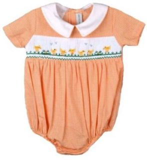 Vive Le Fete Smocked Boys Easter Baby Chicks Bubble: Clothing