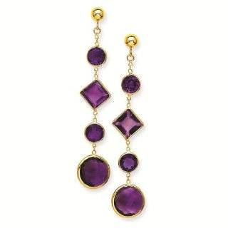 14K Amethyst Post Earrings   Gold Jewelry: Reeve and Knight: Jewelry
