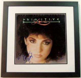 Gloria Estefan and Emilio Estefan Autographed / Hand Signed Miami Sound Machine Primitive Love LP Record Album Cover   BLACK CUSTOM FRAME: Gloria Estefan: Collectibles & Fine Art