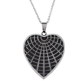 ISHOW New Design Halloween Jewellery Silver 304 Stainless Steel Heart shaped Mesh Pendant Necklace,Free Shipping: Jewelry