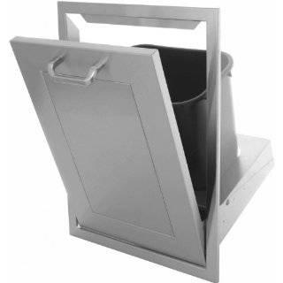 Bbqguys Kingston Panel Series Tilt out Trash Bin   Outdoor Waste Bins