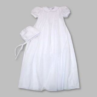 Baptism Dress ~ Petit Ami Long Heirloom Christening Gown and Bonnet SIZE 6 months: Clothing