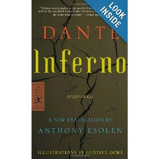 Inferno (Modern Library Classics) Dante, Gustave Dore, Anthony Esolen 9780345483577 Books