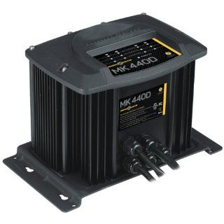 MinnKota MK 440D On Board Battery Charger (4 Banks, 10 Amps Per Bank)  Boating Battery Chargers  Sports & Outdoors