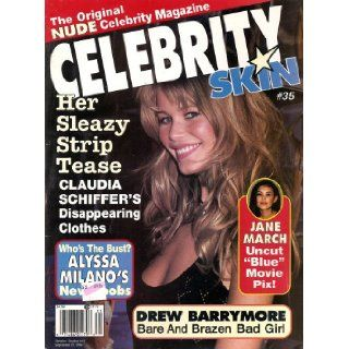 Celebrity Skin Magazine #35 Drew Barrymore, Claudia Schiffer: Celebrity Skin: Books