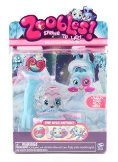 Zoobles: Twobles Whale & Octopus Happitat   Wesley #322 & Alva #329: Toys & Games