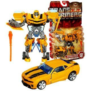 """Hasbro Year 2009 Transformers Movie Series 2 """"Revenge of the Fallen"""" Deluxe Class 6 Inch Tall Robot Action Figure   Autobot BUMBLEBEE with Pulse Missile Launcher and 1 Missile (Vehicle Mode: Camaro Concept): Toys & Games"""