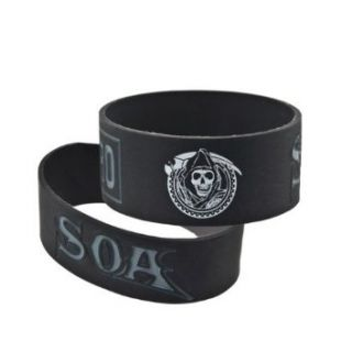 Sons of Anarchy SOA Samcro Reaper Logo Bracelet: Clothing