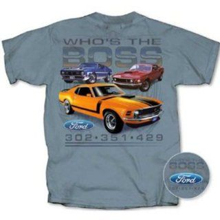 1969, 1970, 1971 Ford Boss Mustang T shirt 302, 351, 429 Cobra Jet, M: Clothing