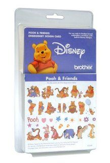 Brother EC353D Pooh and Friends Embroidery Design Card