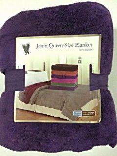 Queen Size Fleece Blanket Solid Purple Soft Plush Microfiber Throw Blankets   Super Plush Solid Purple Blanket