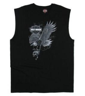 Maui Harley Davidson Men's Landing Black Sleeveless Muscle Shirt   3XL Clothing