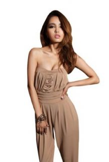 Krazy Sexy Club Cocktail Party Evening Jumpsuit Playsuit Romper #376 Khaki L Clothing