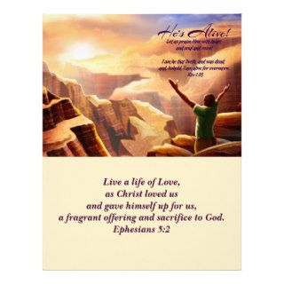 Jesus is Risen! Easter Church Bulletins Custom Letterhead