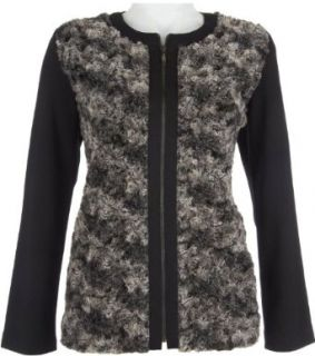 Alfred Dunner Women's On the Red Carpet Faux Fur Zip Up Jacket Clothing