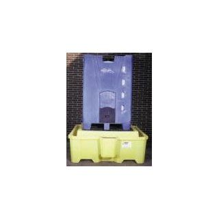 """Enpac SP2000 One Piece IBC Spill Pallet, 100% polyethylene construction, integrated 5 gallon pail holder. Large 385 gallon sump capacity, max UDL load capacity 8, 000 lbs. Overall dimension 72"""" L x 80"""" W x 29"""" H.: Secondary Containment Equip"""