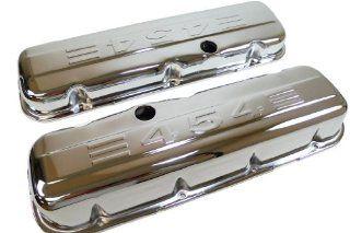 Racer Performance 1965 95 Chevy Big Block 396 427 454 502 Tall Steel Valve Covers w/ 454 Logo   Chrome: Automotive